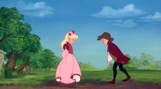 I love this film. The Swan Princess - young Odette and Derek