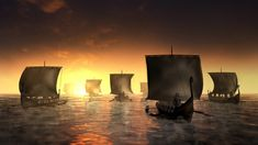 Viking Pictures, Pictures Images, Stock Pictures, Stock Photos, Viking Ship, Viking Age, Viking Longboat, Morning Sunrise, 11th Century