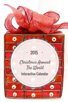 Celebrate Christmas around the world each day during December with this interactive calendar. Link to a new post each day to explore Christmas traditions, Christmas activities, and Christmas recipes from multiple countries.