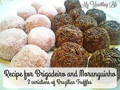 Recipe for brigadeiro and moranguinho - 2 variations of the Brazilian truffles  http://www.myunsettlinglife.co.uk/2016/05/recipe-for-brigadeiro-moranguinho-2.html