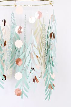 Paper Leaves Chandelier · A Peace of Creativity