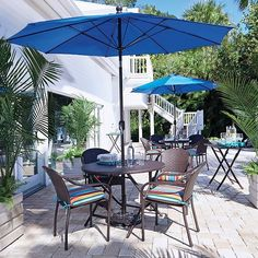 Create a classic dining area outside with our San Marco Outdoor Patio Furniture. Outdoor Dining Furniture, Outdoor Dining Set, Outdoor Decor, Dining Sets, Patio Dining, Dining Area, Outdoor Curtains For Patio, Apartment Porch, Simple Living Room