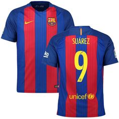Luis Suarez Barcelona Nike 2016 17 Home Replica Jersey 5530b0f09