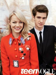 Emma Stone and Andrew Garfield are such a cute couple! Check out their Amazing Spidie story here: http://misstrendshe.blogspot.com/2014/04/emma-and-andrew-cutest-couple-around.html