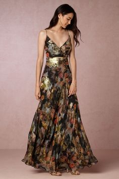 Metallic Fl Maxi Dress For Fall Wedding Guest Attire New Dresses The Lupita From Bhldn Weddings Stylists Special Occasion