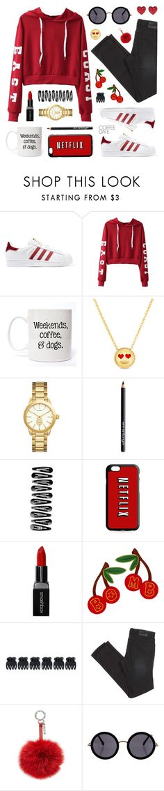 """Weekend Coffee Date"" by lgb321 ❤ liked on Polyvore featuring adidas Originals, Roberto Coin, Versace, Antonym, Smashbox, Accessorize, Fendi, The Row, Alison Lou and weekend"