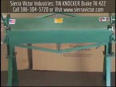 4' x 22 ga. TIN KNOCKER® Straight Brakes. MODEL TK 422. CALL TODAY 386-304-3720, VISIT http://sierravictor.com/index.php?dispatch=products.view&product_id=1477