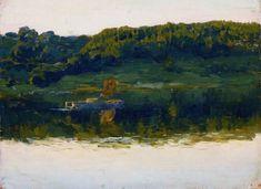 И.Левитан.На Волге1888Холст, масло57,8 x 88,7Государственная Третьяковская галерея