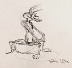 Production art for various Looney Tunes cartoons by animation legend, Chuck Jones. #animation #art #looneytunes