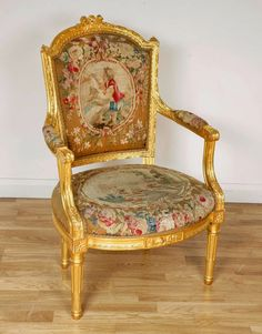 A Taillardat Louis XVI Basic Chair, Gilded At The Request Of Silvina Leone  And Upholstered In Zuber Faux Leather. A Collaboration With Micheline Tau2026