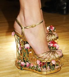 """Dolce & Gabbana winter 2013/2014"" shoes-----pinned by Annacabellal. I can't wear these, but they're fun."