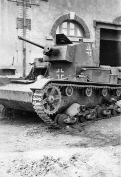 Polish 7TP light tank, captured by the German Wehrmacht in the battle for Poland in 1939. Panzerwaffe used for their needs, and then was sent to the defense of France, where he was captured by Allied forces in 1944. Time taken: 1944