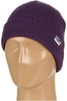 $16, Dark Purple Beanie: Neff Fold Beanie. Sold by Zappos. Click for more info: http://lookastic.com/men/shop_items/168649/redirect