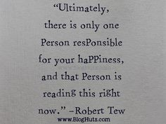 Person Responsible For Your Happiness