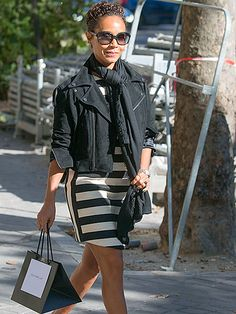 Star Tracks: Wednesday, September 30, 2015 | PINKETT IN PARIS | Jada Pinkett Smith spends a sunny Tuesday shopping in Paris in a très chic black-and-white ensemble.