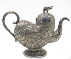 Indian Export Silver Teapot