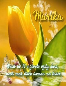 Marika Nech sa Ti v živote vždy darí, nech máš stále úsmev na tvári