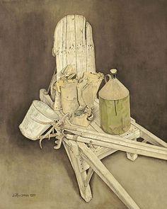 Jopie Huisman - De steenkruiwagen van C. Adema 1977 - 40x50cm Canvas Giclée