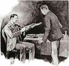 Sidney Pagets Original Illustration From The Adventure Of Engineers Thumb For Strand Magazine Adventures Sherlock HolmesBaker