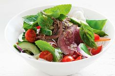 This colourful Thai beef salad is a quick and easy dinner idea.