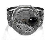 Steampunk Cuff GEARS Rose - Steampunk Jewelry by edmdesigns. $165,00, via Etsy.
