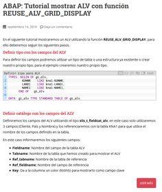 Manual de SAP/ABAP para mostrar ALV con la función REUSE_ALV_GRID_DISPLAY