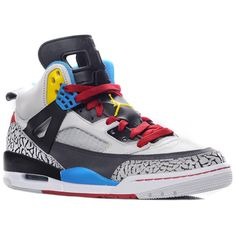 Air Jordan Spizike Bordeaux ($265) found on Polyvore