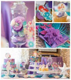 Descubre Mas e 50 Ideas para Decorar una fiesta de cumpleaños Piñata del tema de la sirenita