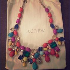 Authentic J Crew necklace Multi colored, blogger fav J Crew Jewelry Necklaces