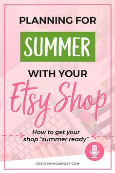 Planning for the summer with your Etsy shop - how do you balance work kids home and just LIFE without losing your mind? Here are my tips to get things done and manage your time while running an Etsy shop. Creative Business, Business Tips, Craft Business, How To Start A Blog, How To Make Money, Handmade Shop, Etsy Handmade, Handmade Products, Etsy Seo