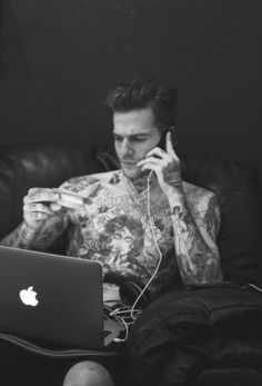 Why Jesse Rutherford Should Be Your Newest Crush. I could spend all day discovering those tattoos...