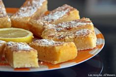 Barritas de limón (lemon bars) ༺✿ƬⱤღ  http://www.pinterest.com/teretegui/✿༻