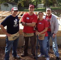 Alumni in Alamance County volunteer with Habitat for Humanity.