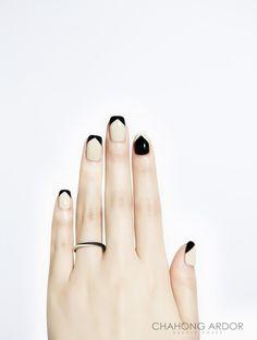 A monochrome film #nailart #nail #beauty #chahongardor