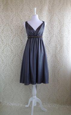 Abendkleid, Kleid aus feinster leicht glänzender Seide in romantischem Schnitt // evening gown, dress by Jamè Lilly via DaWanda.com