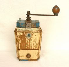 French antique coffee grinder.
