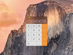 Apple OS X Yosemite Calculator