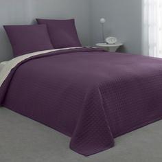 Jeté de lit microfibre 100% polyester - Violet- Vue 1