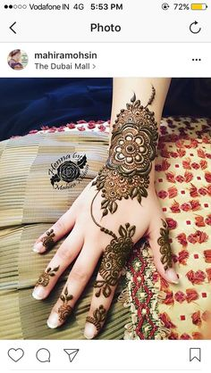 New Indian Mehndi Designs For Bridal; Mehndi design is the world famous art. In the world Indian Mehndi Designs by Pakistani Henna Hand Designs, Eid Mehndi Designs, Latest Bridal Mehndi Designs, Mehndi Designs For Girls, Mehndi Design Pictures, Mehndi Patterns, Henna Tattoo Designs, Mehndi Images, Tattoo Ideas