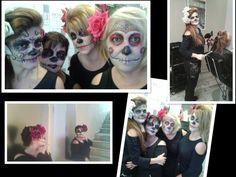 En Molins nuestras chicas se maquillaron de Catrinas!!! Terroríficamente adorables!!!