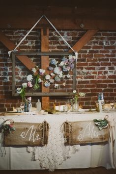 Amazing head table decor!! // photo by Chantel Marie, see more: http://theeverylastdetail.com/vintage-eclectic-california-wedding/