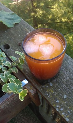 day 5 - beer tang with lemonade icecubes (yes, <3 shaped) - #30daysofcreativity @createstuff