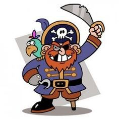 Need to print these out. Pirate coloring pages are favorites with kids of all ages - pirate crafts are great fun! Pirates coloring pages, printables and clip art are great. Pirate Day, Pirate Theme, Pirate Birthday, 5th Birthday, Images Pirates, Pirate Clip Art, Pirate Coloring Pages, Pirate Activities, Pirate Crafts