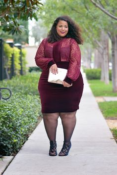 She is PERFECTION GarnerStyle | The Curvy Girl Guide: Red Velvet