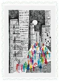 Maracatu noturno - Ilustração Por Catarina Bessell