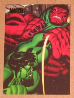 ~ Marvel Heroes and Villains (Rittenhouse Parallel Card Hulk vs. Red Hulk ~ The card shows the cover from Hulk by Ed McGuiness and De Marvel Comics, Hulk Marvel, Fun Comics, Marvel Art, Marvel Heroes, Avengers, Hulk Comic, Marvel Comic Character, Comic Book Characters