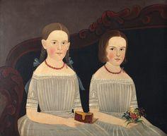 Attributed to William Matthew Prior (American artist, 1806-1873) Laura Ann Wood, age 9; Mary Ellen Wood, age 7