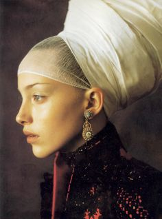 'Infanta Style' - editorial photographed by Paolo Roversi and styled by Alice Gentilucci for Vogue Italia, September 1997.