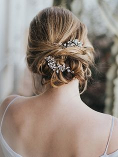 """""""Addison"""" Customizable Beaded Bridal Hair Pin in Silver, Gold or Rose Gold - NEW - Bridal Hair Accessories and Wedding Headpieces by Hair Comes the Bride"""