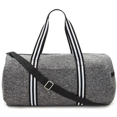 Forever21 Active Marled Knit Gym Bag ($23) ❤ liked on Polyvore featuring bags and luggage
